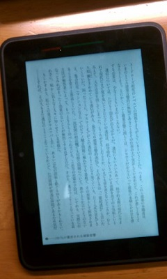 Kindle Fire HDに送ってみてみるとこんな感じです。