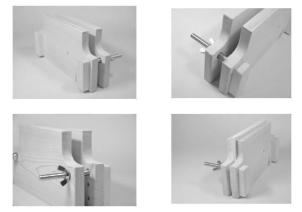 1冊づつ作る製本キット・左からB6、A5、B5、A4版アップ写真
