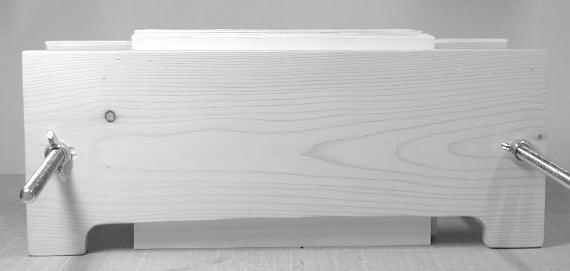 間に挟む固定板は長い辺が下になります。A5は4枚必要です。